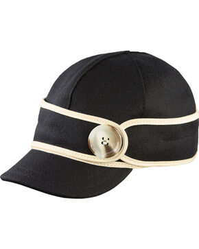 Stormy Kromer Women's Black & White The Button Up Cap, Blk/white, hi-res