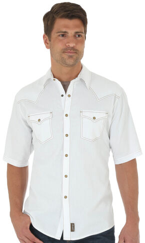 Wrangler Retro® Men's Whiter Two Pockets Short Sleeve Shirt , White, hi-res