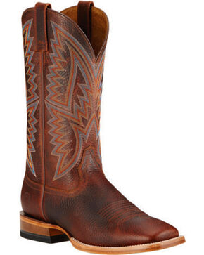 Ariat Hesston Cowboy Boots - Square Toe, Brown, hi-res