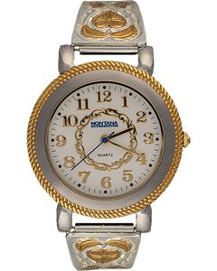Montana Silversmiths Two-Tone Hearts & Feathers Watch, , hi-res