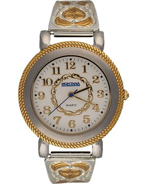 Montana Silversmiths Two-Tone Hearts & Feathers Watch, Silver, hi-res