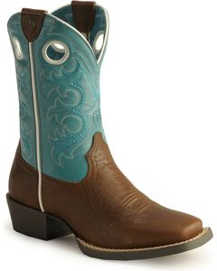 Ariat Youth Boys' Crossfire Cowboy Boots - Square Toe, , hi-res