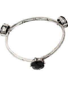 Ethel & Myrtle Black Stone Stretch Bracelet , , hi-res
