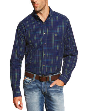 Ariat Men's Peacoat Navy Brennan Shirt, Navy, hi-res