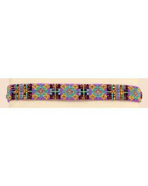 Blazin Roxx Beaded Southwest Headband, Purple, hi-res
