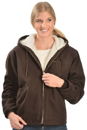 Red Ranch Chocolate Sherpa Lined Work Jacket, Chocolate, hi-res