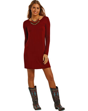 Panhandle Slim Women's Burgundy Swing Dress , Burgundy, hi-res
