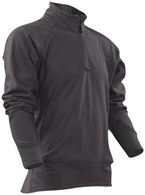 Tru-Spec Men's Grey 24-7 Cross-Fit Grid Fleece Pullover , Grey, hi-res