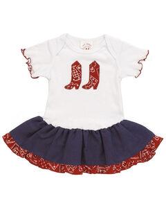 Girls' Bandana Print Infant Dress - 6-24 mos., , hi-res