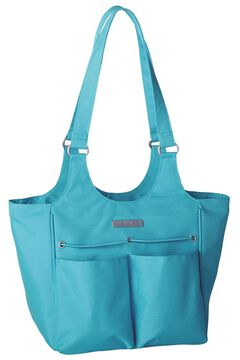 Ariat Mini Carry All Teal Poly Canvas Tote Bag, , hi-res