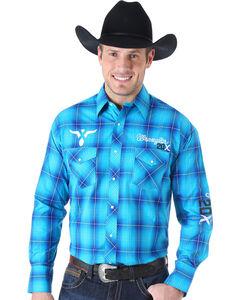 Wrangler Men's 20X Embroidered Logo Western Shirt , , hi-res