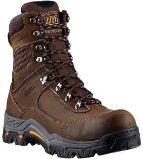 "Ariat WorkHog Trek 8"" Lace-Up Work Boots - Comp Toe, Brown, hi-res"