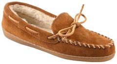 Minnetonka Women's Pile Lined Hardsole Moccasins - Wide, , hi-res