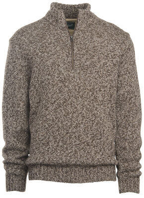 Woolrich Men's Kennebeck Rag Half-Zip Sweater, Oatmeal, hi-res