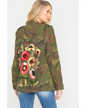 MM Vintage Women's Camo Embroidered Jacket , Camouflage, hi-res