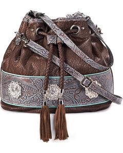 Blazin Roxx Women's Myra Bucket Bag , Brown, hi-res