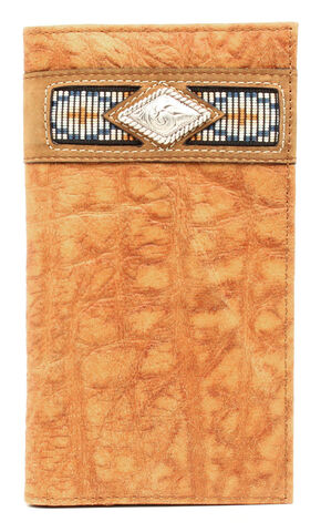 Ariat Gator Ribbon Rodeo Wallet, Natural, hi-res