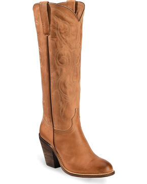 Lucchese Eggshell Vanessa Cowgirl Boots - Round Toe, Tan, hi-res