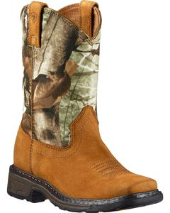 Ariat Youth Boys' WorkHog Boots - Square Toe, , hi-res