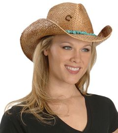Charlie 1 Horse Tulum Straw Cowboy Hat, , hi-res