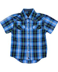 Cody James Toddlers' Plaid Short Sleeve Shirt , , hi-res