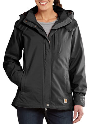 Carhartt Cascade Hooded Jacket, Black, hi-res