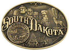 Montana Silversmiths South Dakota State Heritage Attitude Belt Buckle, , hi-res