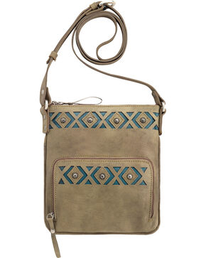 American West Moon Dancer Sandy Brown Crossbody Bag, Sand, hi-res