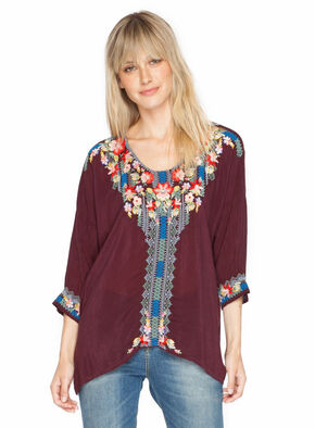 Johnny Was Women's Rosa Blouse, Red, hi-res