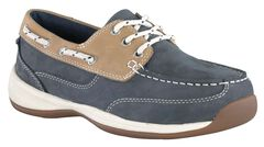 Rockport Works Women's Sailing Club Boat Shoes - Steel Toe, , hi-res