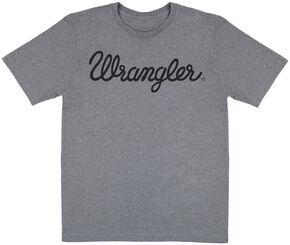 Wrangler Men's Grey Logo T-Shirt, Grey, hi-res