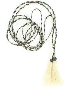 Black & Grey Horsehair Stampede String, , hi-res