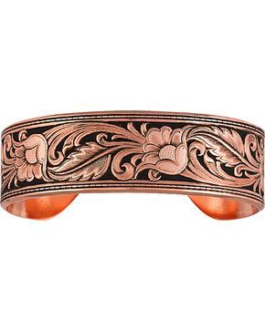 Montana Silversmiths LeatherCut Floral Cuff Bracelet, Copper, hi-res