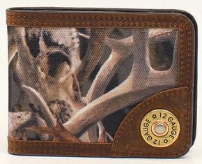 Ariat Camo Shotgun Shell Bi-Fold Money Clip, Camouflage, hi-res