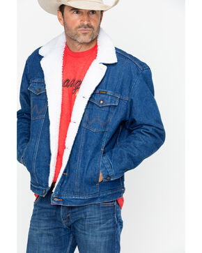 Wrangler Sherpa Lined Denim Jacket, Denim, hi-res
