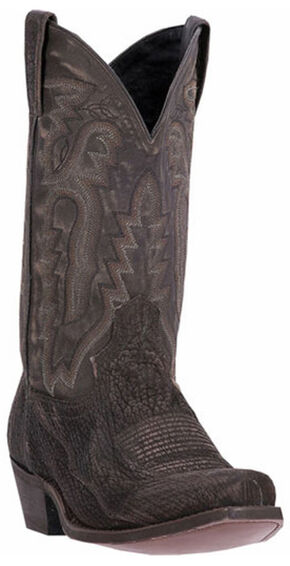 Laredo Douglas Shark Cowboy Boots - Square Toe, Black, hi-res
