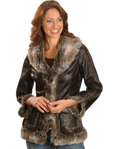 Scully Faux Leather & Fur Jacket, , hi-res