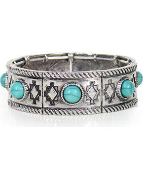 Shyanne Women's Aztec Bracelet, Silver, hi-res