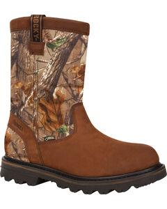 Rocky Men's Cornstalker GORE-TEX Waterproof Insulated Outdoor Wellington Boots, Brown, hi-res
