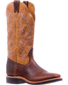 Boulet Brown Extralight Cowgirl Boots - Square Toe , , hi-res