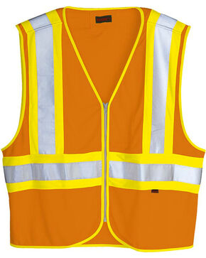 Wolverine Men's Safety Mile Marker Vest, Orange, hi-res