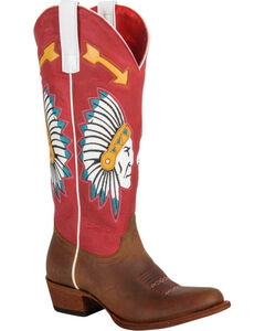 Macie Bean Chief So Cute Cowgirl Boots - Round Toe, , hi-res