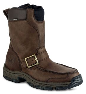 Red Wing Irish Setter Havoc Waterproof Side Zip Work Boots - Round Toe, Brown, hi-res