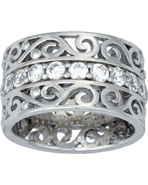 Montana Silversmiths Wide Filigree Band Ring, Silver, hi-res
