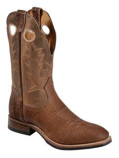 Boulet Cognac Roper Cowboy Boots - Round Toe, , hi-res