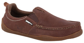 Georgia Boots Women's Cedar Falls Moc Toe Slip-Ons, Brown, hi-res