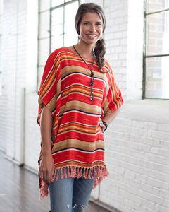 Ryan Michael Women's Serape Poncho, , hi-res