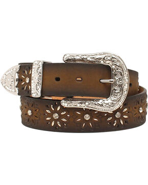 Ariat Laced Starburst Belt, Brown, hi-res