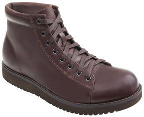 Eastland Men's Dark Walnut Aiden Lace Up Boots , Brown, hi-res
