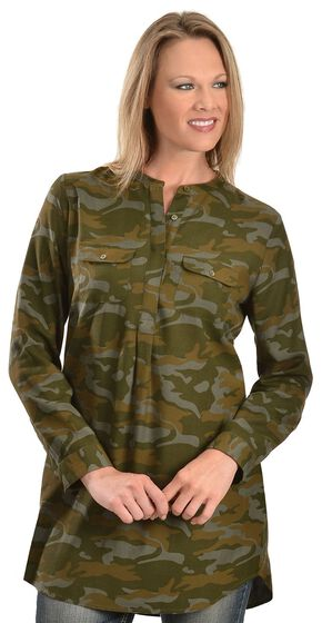 Red Ranch Green Camo Tunic, Olive Green, hi-res